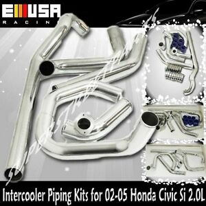Intercooler Pipings+Silicones+Clamps for 02-05 Honda Civic Si/TypeR 2.0 K20A EP3
