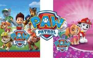 Paw Patrol Licenced Birthday Party Loot Gift Treat Bags Boys & Girls Decorations