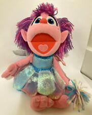 Sesame Street Abby Cadabby 12″ Fairy Plush Stuffed Toy Doll Pink Blue Wand Wings