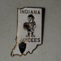 Indiana Jaycees Vintage Basketball Referee State Lapel Pin