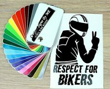 Respect For Bikers Car Safety Sticker Vinyl Decal Adhesive Window Bumper TailgaT