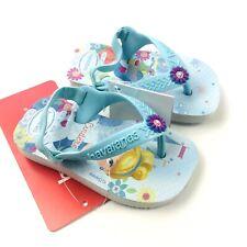 Havaianas Disney Baby Girl Blue Rubber Cinderella Sling Back Flip Flop Sandal 4C