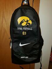 University Iowa Hawkeye Football Team Issued Nike Max Air Backpack #63