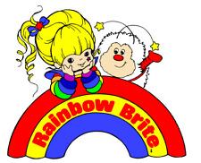 Rainbow Brite Iron On Transfer Light or Dark Fabrics 5 x 7 Size