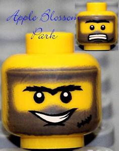 NEW Lego Male MINIFIG HEAD Boy w/Dirt Smile - Power Miner/Police/Kingdoms/Castle