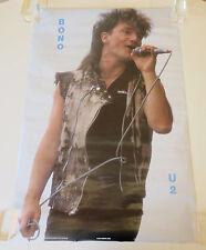 "Vintage U2 1986 1155 Bono Rock Music Stage Photo Poster 23"" x 34"""