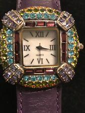 Purple,turquoise Green Gems. Lavintage Purple Watch Beautiful