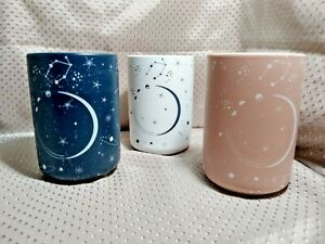 "XO, Sienna Set Of 3 Decorative Desk Vases 5""H x 3""W Starry Skies"