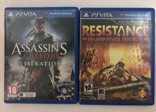Resistance: Burning Skies; Assassins Creed: Liberation for PlayStation Vita
