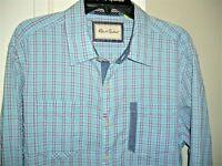 ROBERT GRAHAM XL Tailored Fit Blue Plaid Long Sleeve Button Down Shirt