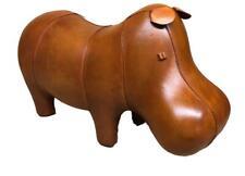 Handmade Genuine Leather Hippo Footstool / Stool - 28cm x 56cm