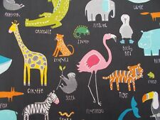 "Harlequin/Scion Tela ""Animal Magic' 3 metros Tutti Frutti/Blackboard Algodón"