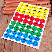 New Cute 540pcs Colourful Happy Round Smile Face Stickers Circle Decor