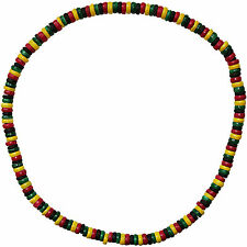 Rasta Reggae Wood Bead Necklace Chain Mens Womens Ladies Girls Boys Jewellery