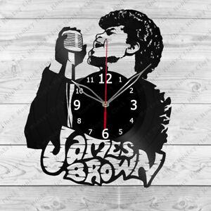 Vinyl Clock JAMES BROWN Vinyl Record Wall Clock Home Art Decor Handmade 3955