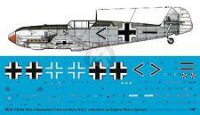 Peddinghaus 1/48 Bf 109 E-4 Markings Franz von Werra II./JG 3 England 1940 3180