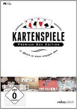 Kartenspiele Premium Box -Canasta-Romme-Mau Mau-17 und 4-Skat-Poker-Jass-PC DVD