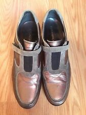 Stonefly Bronze Leather & Suede Shoes Women's Size 37 (6.5-7 US)
