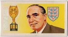 English Footballer Sir Alfred Ramsey Soccer Vintage Trade Ad Card