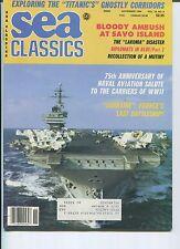 SEA CLASSICS Magazine CARRIERS OF WWII Lakonia Disaster AMBUSH SAVO ISLAND 11/86