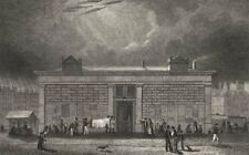PARIS. La Morgue, Quai Notre Dame 1831 old antique vintage print picture
