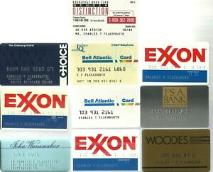 Lot of 10 Vintage Credit Cards for Collection Expired VG condition