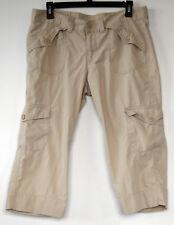 Lucky Brand Beige Lightweight Cotton Cargo Capri Pants 10