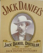 Jack Daniels Distillery, Portrait Tin Metal Sign, Old No. 7, Tennessee Whiskey