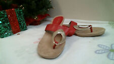 ANNE KLEIN IFLEX Sandals RED size 9 1/2 M  TOE THONG casual career