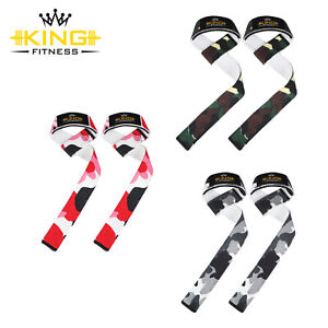 Padded Weight Lifting Training Gym Straps Hand Bar Wrist Support Gloves Wrap UK