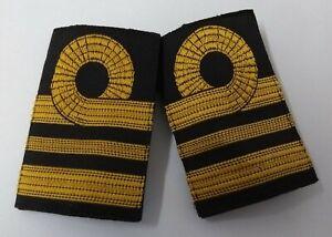 Genuine British Issue Royal Navy Lieutenant Commander Woven Rank Sliders SBLT10