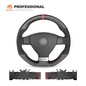 DIY Leather Suede Steering Wheel Cover for VW Golf 5 Mk5 GTI Golf 5 R32 Passat R