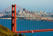 Fototapete-GOLDEN GATE BRIDGE-(343P)-350x260cm-7 Bahnen 50x260cm-San Francisco