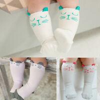 1 paire enfant nouveau-né genou chaussettes haute chaussette bébé anti Slip CAT