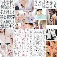 30x Tattoo Fox Fake Flower Tattoo Hand Body Waterproof Temporary Tattoo Stickers