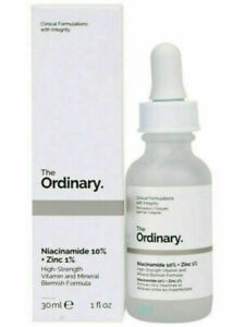 The Ordinary Niacinamide 10% Zinc 1% High Strength Vitamin Mineral Serum 30ml