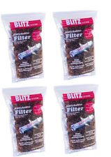 BLITZ FILTRO PER PIPA CARBONE ATTIVO 9 mm 4x 200 pz. beideitiger keramikdeckel