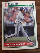 1991 Score Rookie Prospect Luis Sojo Toronto Blue Jays 342