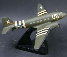 C-47 Douglas Skytrain or Dakota Airplane Handcrafted Wood Model 16 x 11 inch