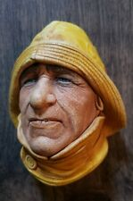 Vtg Bosson Chalkware Legend bust face figurine sculpture Life boatman 1965