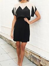 Gorman Black and Off White Silk Dress, Size 8, Small, SOLD OUT EVERYWHERE
