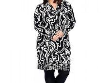 OPHILIA: extravagantes Jacken-Kleid schwarz/offwhite Gr. 5 (48 - 50)  NEU