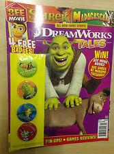 UK DREAMWORKS TALES Shrek Bee Movie MAGAZINE  No. 9 March 2008 & Badges