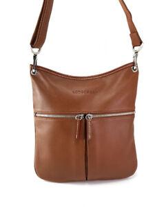 LONGCHAMP Le Foulonne Brown Leather Cross-Body Bag