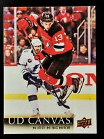 🏒2018-19 Upper Deck ☆CANVAS☆ Nico Hischier #C51