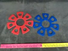 2 Franklin Disc Frisbee RARE Vintage Yard Spinner Game Hard Plastic Fare Flying