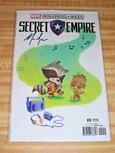 Secret Empire #0! (2017) Butcher MCC Variant! Signed by Nick Spencer! NM! COA!