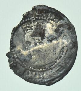 ELIZABETH I PENNY (1578-1579), mm. GREEK CROSS, BRITISH SILVER HAMMERED COIN