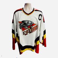 1995-96 Vintage Bauer Cincinnati Cyclones IHL White Hockey Jersey Men's XL