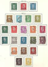 Reich stamps 1927 collection of 22 stamps Canc/Mlh Vf High Value!